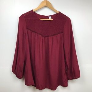 Old Navy Blouse with Embroidery